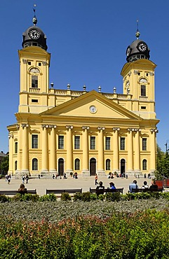 Reformed church, city square of Debrecen, Hungaria