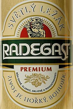 Czech beer can, beer from Plzen, Pilsen, Bohemia, Czech Republic
