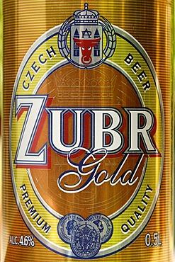 Czech beer can, beer from Prerov, Bohemia, Czech Republic