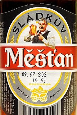 Czech beer, beer from Prague, Bohemia, Czech Republic