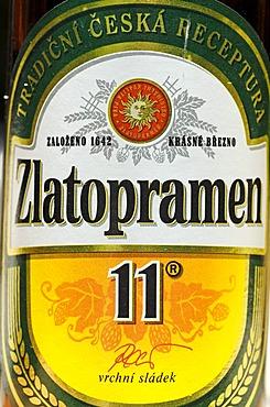 Czech beer, beer from Usti nad Labem, Bohemia, Czech Republic