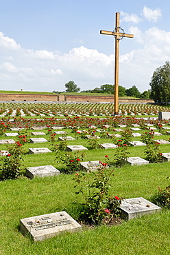 Memorial cemetery, Gestapo prison Small Fortress Theresienstadt, Terezin, north Bohemia, Czech Republic