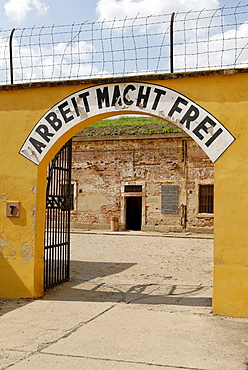 Gestapo prison Small Fortress Theresienstadt, Terezin, north Bohemia, Czech Republic