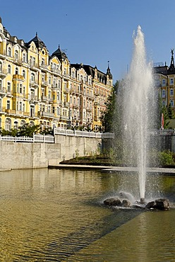 Hotel at health resort Marianske Lazne, Marienbad, West Bohemia, Czech Republik