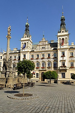 Historic old town of Pardubice on the Labe, Elbe, east Bohemia, Czech Republik
