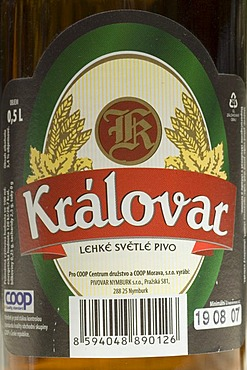 Czech beer from Nymburk, Bohemia, Czech Republic