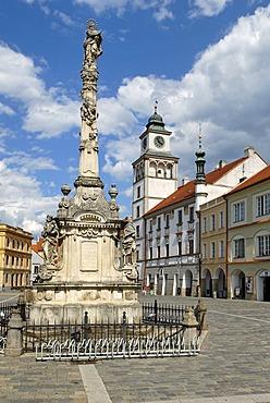 Historic old town of Trebon, Wittingau, South Bohemia, Czech Republic