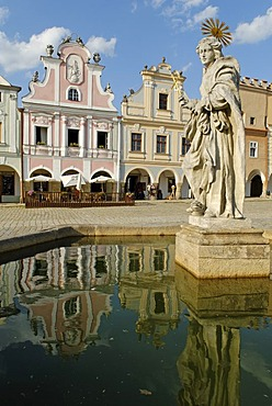 Historic old town of Telc, Unesco World Heritage Site, Moravia, Czech Republic