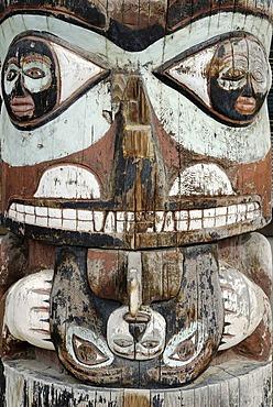 Indian, native american, totem pole, Whitehorse, Yukon, Canada