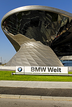 New building BMW Welt, BMW world, Munich, Bavaria, Germany