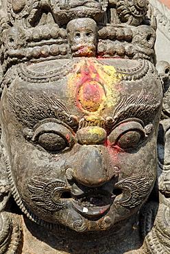 Hinduistic statue, Swayambhunat Tempel, Kathmandu, Nepal