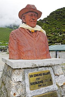 Monument for Sir Edmund Hillary, Khumjung, Sagarmatha National Park, Mount Everest region, Solukhumbu, Khumbu, Nepal