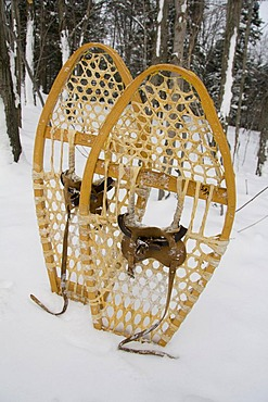Old-fashioned wooden snowshoes, Quebec, Canada