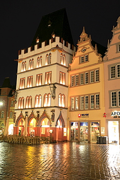 The Steipe on the main market square, Roman town Trier, Rhineland-Palatinate, Germany, Europe