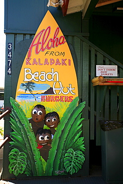 Kalapaki Beach Hut, popular breakfast location, Lihue, Kaua'i Island, Hawaii, USA