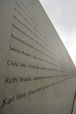 Memorial for the deported jews during the World War 2 in Stuttgart, Baden-Wuerttemberg, Germany