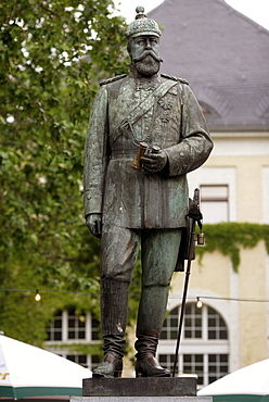Bronze bust of Louis IV, Ludwig IV, Grand Duke of Hesse, in Bingen am Rhein, Rhineland-Palatinate, Germany, Europe