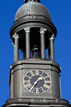 Clock tower, St. Michaelis Church, Hamburg, Germany