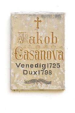 Memorial tablet Jakob Giacomo Girolamo Casanova, Duchcov, Czech Republic