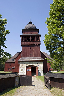 Wooden protestant articular church, of master Josef Lang 1729, one of the biggest wooden buildings in Slovakia, Svaet? Kriû, middle Liptau (Liptov), Slovakia