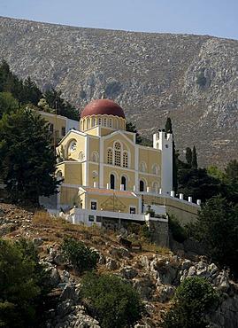 Church on the Isle of Symi near Rhodes, Greece, Europe