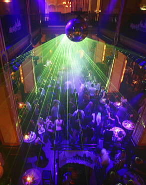 Lightshow in a disco