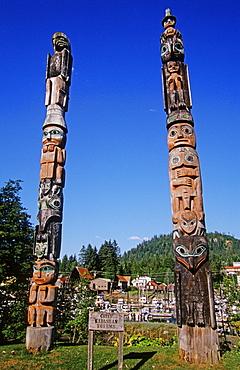 Tlingit totem poles, Wrangell, southeastern Alaska, USA