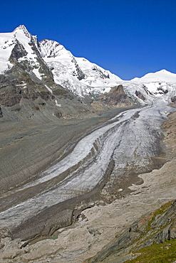 Grossglockner mountain with the Pasterze glacier, Austria, Europe