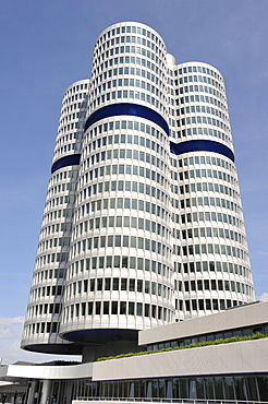Headquarters of automotive manufacturer BMW, Munich, Bavaria, Germany, Europe