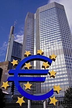 Euro-sculpture, Willy-Brandt-Platz, Frankfurt/Main, Hesse, Germany, Europe