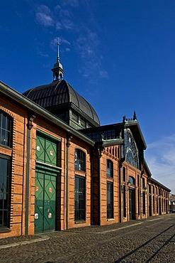 Former fish auction hall converted into a civic hall, Hamburg Harbour, Hamburg, Germany, Europe