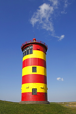 Lighthouse in Pilsum, Krummhoern, Eastern Frisia, North Sea Coast, Lower Saxony, Germany, Europe
