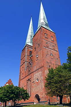 Luebeck Cathedral in the Hanseatic city of Luebeck, Schleswig-Holstein, Germany, Europe