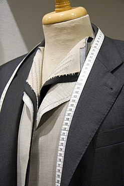 Suit being custom-tailored