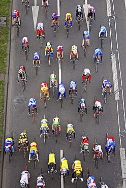 Bike race around Cologne, North Rhine-Westphalia, Germany