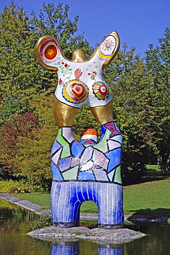 """""""The Poet and his Muse"""" by Niki de Saint Phalle, Ulm, Baden-Wuerttemberg, Germany"""