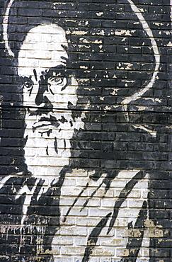 Ayatollah Khomeini wall mural, Iran