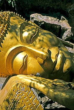 Resting buddha, Luang Prabang, Laos, Asia