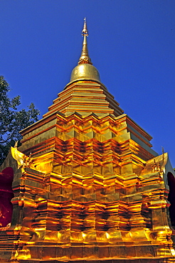 Sareerikkatartsirirak Pagoda at Wat Phan On, inaugurated by King Bhumipol on June 9, 2007, Chiang Mai, Thailand, Southeast Asia, Asia
