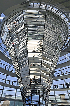 Reichstag Dome, Bundestag, German Parliament Building, Berlin, Germany, Europe