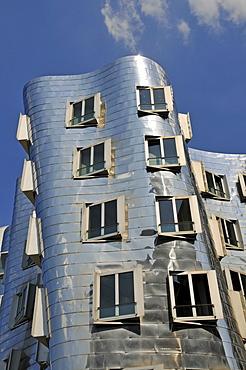 Buildings designed by Frank Gehry, Duesseldorf, North Rhine-Westphalia, Germany, Europe