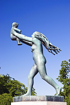 Bronze sculpture by Gustav Vigeland in Vigeland Sculpture Park, Frogner Park, Oslo, Norway, Scandinavia, Europe