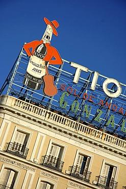 Tio Pepe advertising , Madrid , Spain , Europe