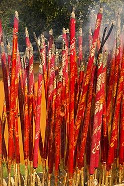 Joss sticks, North Temple Pagoda, Suzhou, China, Asia