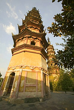 Twin pagodas, Suzhou, China, Asia