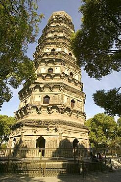 Huqiu Shan Temple on the Tigerhill, Suzhou, China, Asia