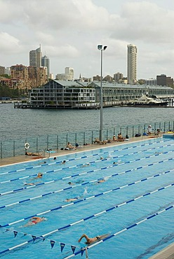 Quarter of Wooloomooloo, Pool, Bay of Wooloomooloo, Sydney, New South Wales, Australia