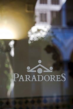 Parador Hotel logo, Granada, Andalusia, Spain, Europe