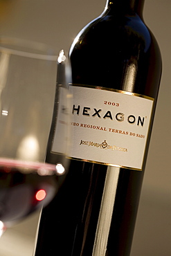 Hexagon, red wine, Bodega Jose Maria Fonseca, Vila Nogueira de Azeitao, Setúbal, Portugal, Europe
