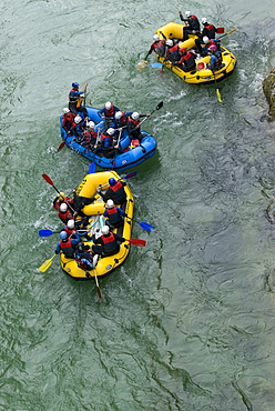 Rafting on the river Salza in Palfau, Styria, Austria, Europe